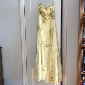 Yellow beaded Gown